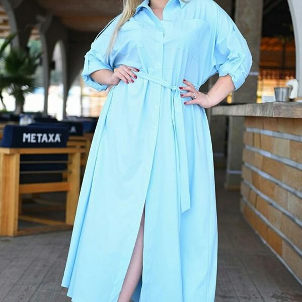 Платье на пуговицах большого размера VM-9089A14.5