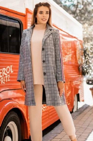 Модное пальто в клетку YM-5034A32B33