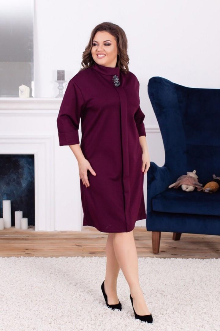 Женское платье с рукавом три четверти ALL-2038