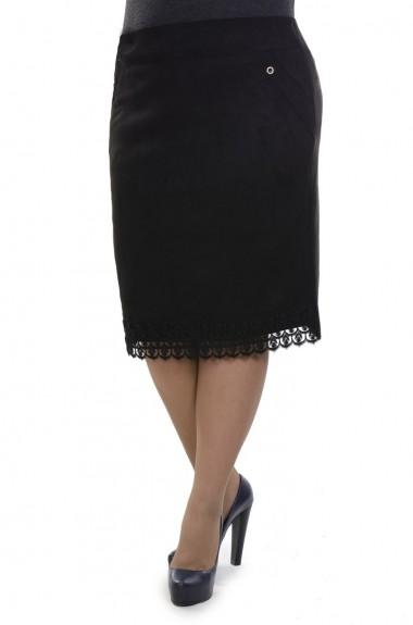 Классическая черная юбка SVK-170220A190