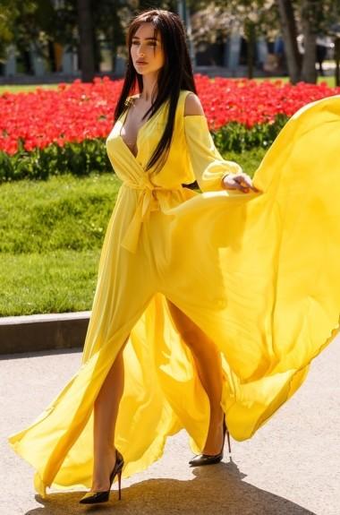 Красивое яркое платье ENI-3780