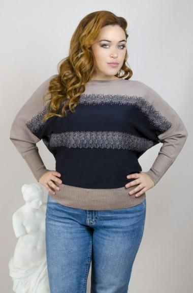 Кашемировый свитер женский большого размера IND-151018