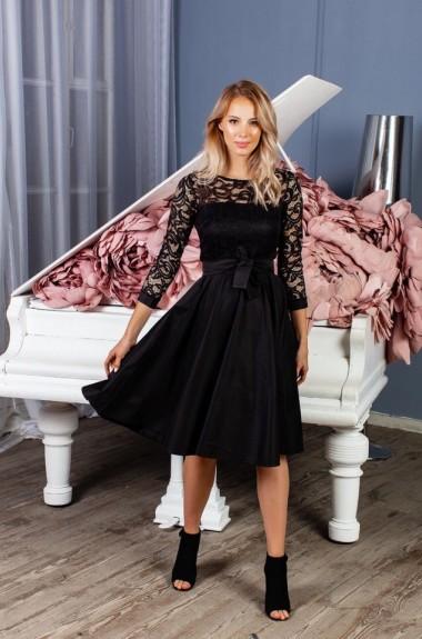 Платье с гипюровым верхом NBV-149