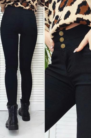 Утепленные черные джинсы NAV-0034A200