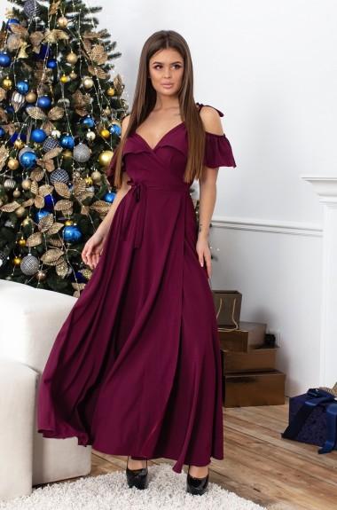 Легкое платье с запахом DP-199