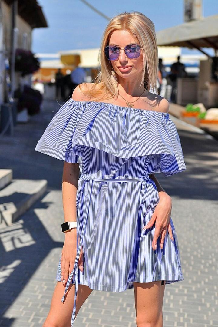 Короткое платье с воланом VM-8028A8.3