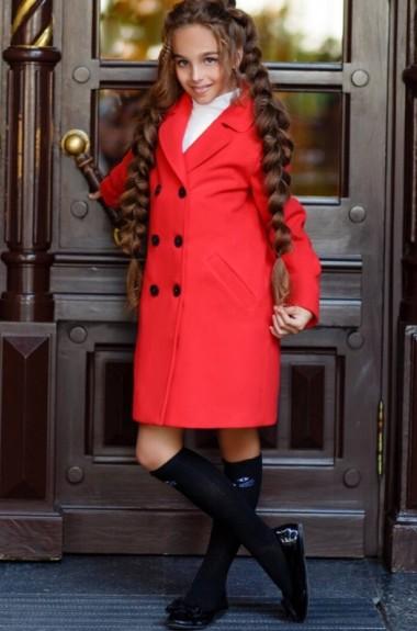 Детское пальто для девочки KL-367