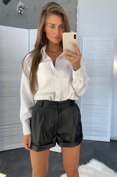 Короткие кожаные шорты LDD-943A420