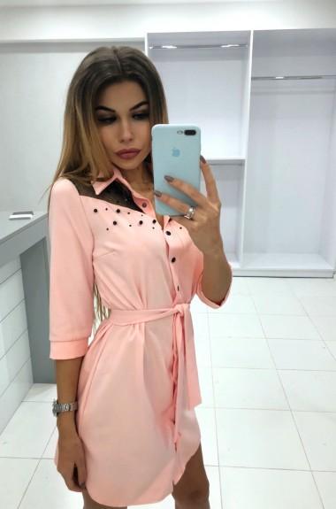 Платье рубашка с поясом MT-107