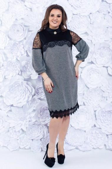 Платье женское с рукавом фонарик ALL-10146