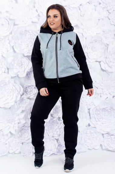 Утепленный спортивный костюм с начесом AK-201218