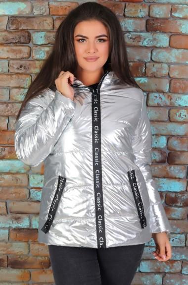 Куртка блестящая серебристая NDP-1218A615
