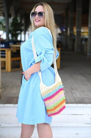 Платье свободного кроя с рукавами VM-9079