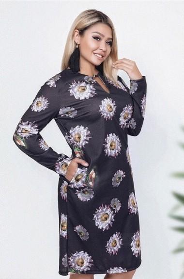 Платье в крупный цветок AFI-183