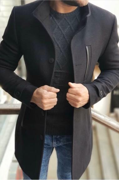 Пальто мужское осеннее короткое EKS-833A23