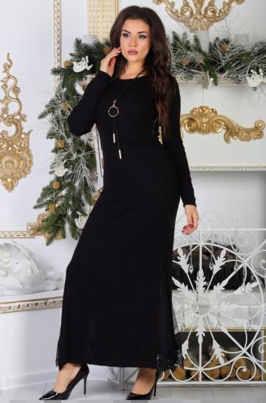 Длинное платье с разрезами по бокам AJ-17083