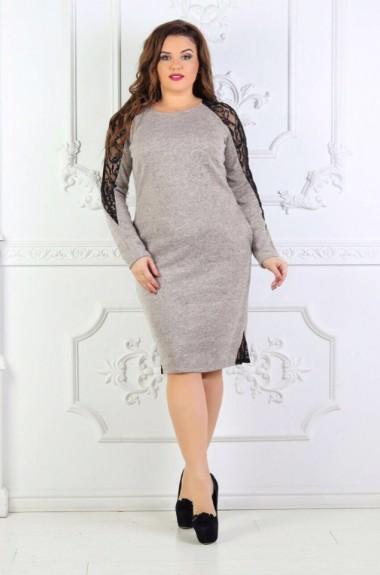 Повседневное платье с длинным рукавом YL-107