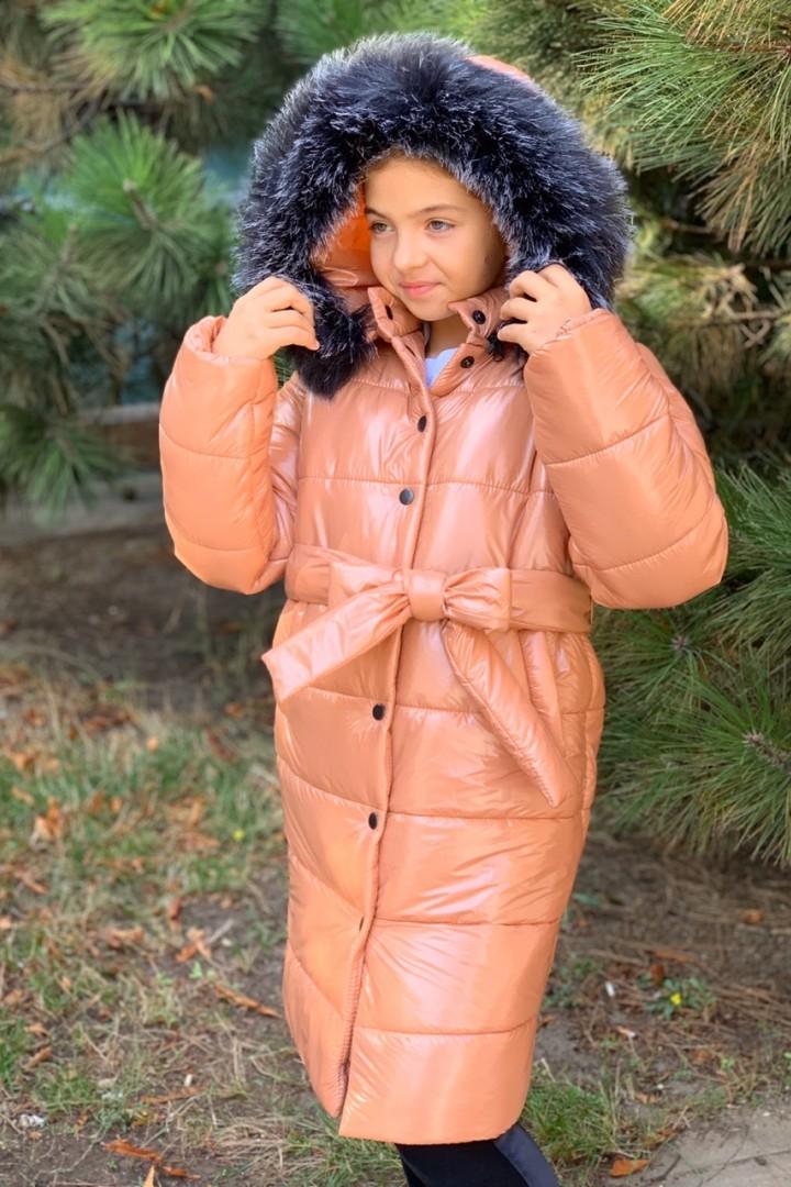 Модное пальто для девочки-подростка MMS-761A1150