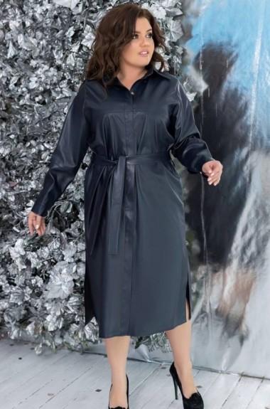 Длинное кожаное платье YM-05115A20