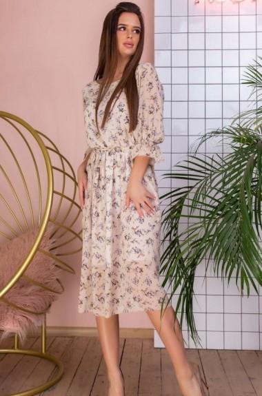 Платье с мелким принтом YM-5154A21B22