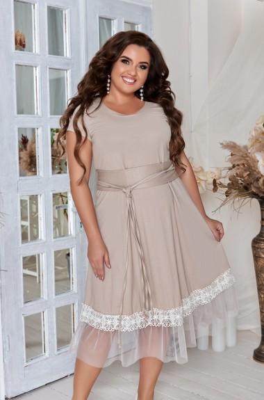 Платье с оборкой по низу AO-22022020A400