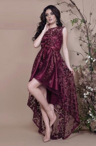 Красивое платье со шлейфом AS-291
