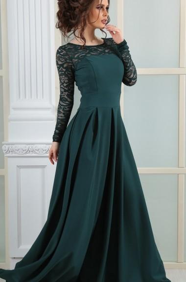 Вечернее платье в пол с длинным рукавом NA-2001