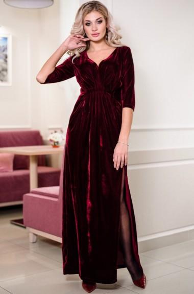 Красивое велюровое платье OG-076