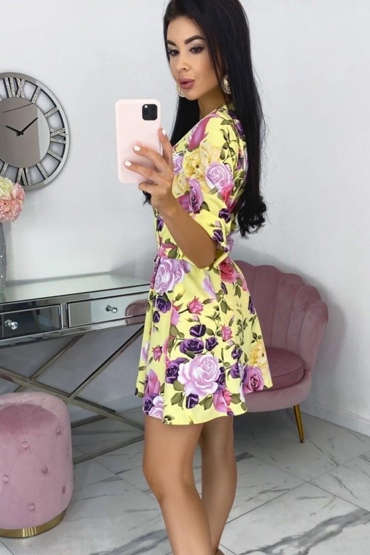Яркое короткое платье EFR-542A12.5