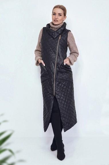 Длинная женская жилетка без рукавов ANK-1697