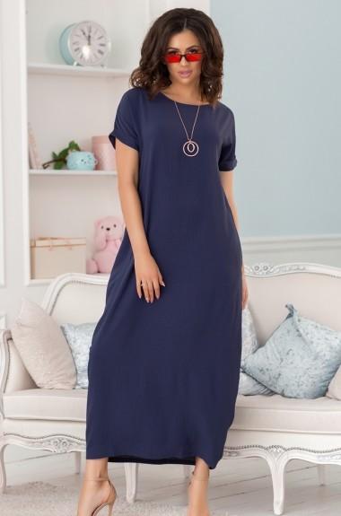 Длинное платье свободного покроя NVA-474