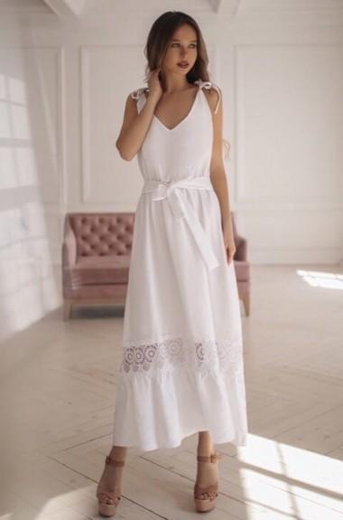 Красивое льняное платье FL-035A18