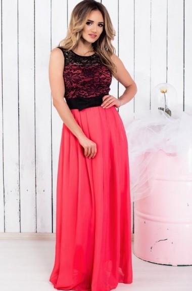 50083222723 Длинное вечернее шифоновое платье ALL-1262075
