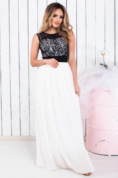 627fd71b2ce5fe4 Черно белое платье купить в фото каталоге. Черно белого цвета с ...