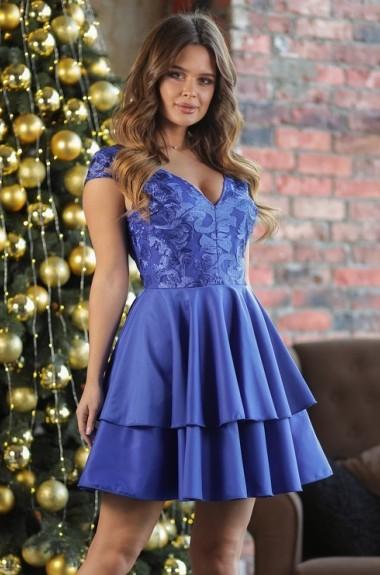 Платье с многослойной юбкой NA-347A23