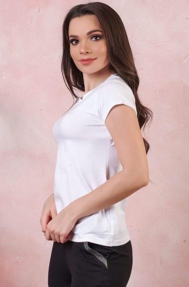Белая однотонная футболка SD-404A6