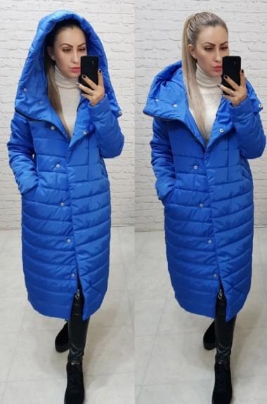 Стеганное длинное пальто MUN-180A900