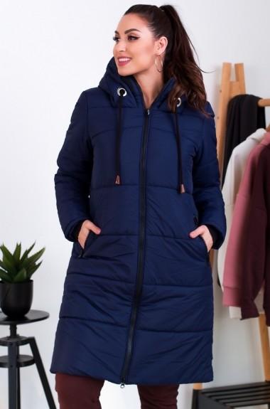 Утепленное пальто с капюшономRO-5267A36