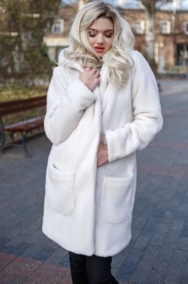 Шуба женская с капюшоном LIA-3004A675