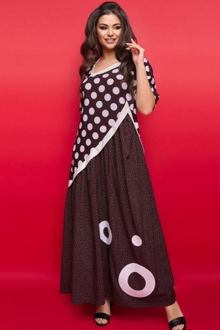 Длинное платье в горох IS-908A22