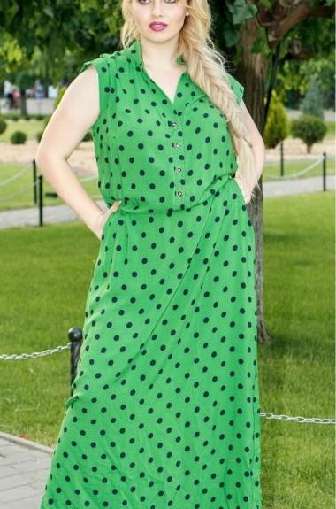 Длинное платье в горох NDV-3101