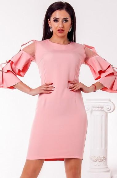 Платье с необычными рукавами OKO-947