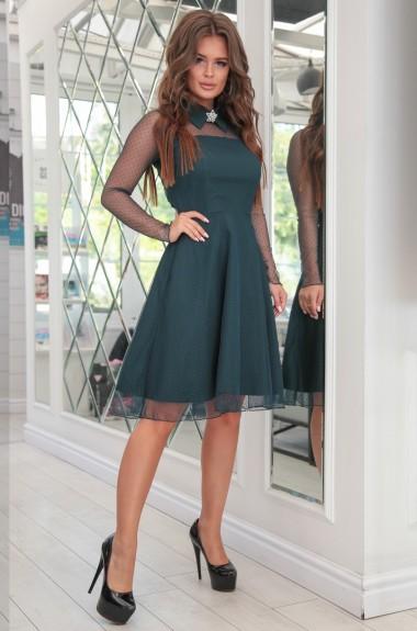 Платье с прозрачным верхом NA-2140