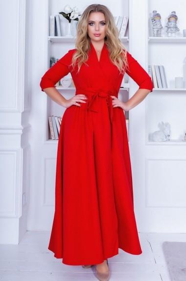 Платье с запахом в пол NBV-327A21