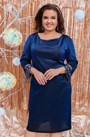 Вечернее платье из трикотажа с люрексом VLT-1161A350