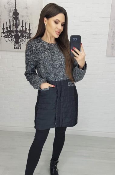 Молодежное стильное пальто AR-607A22