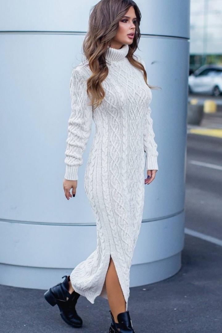 Стильное вязаное платье IB-3144A430