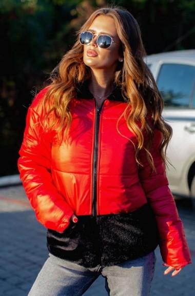 Короткая куртка женская с мехом VCH-558A21.5