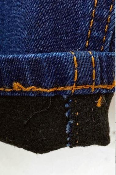 Синие утепленные джинсы NAV-721A370