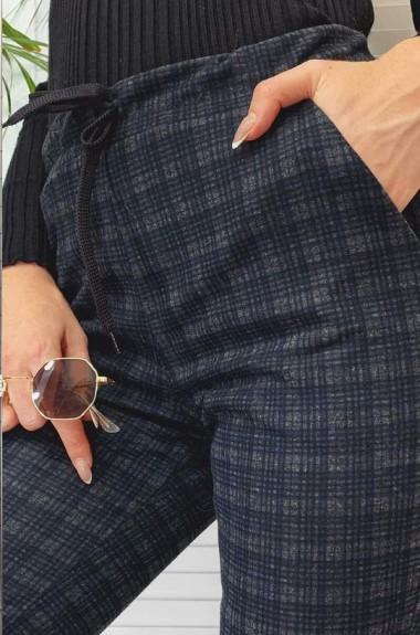 Шерстяные брюки в клетку NAV-0307A330